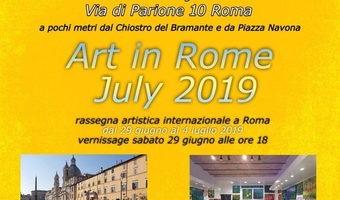 Mostra Collettiva ART in ROME  dal 29 giugno al 4 luglio 2019