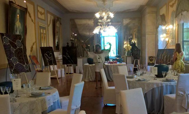 Mostra c/o Castello di Spessa con la bellissima voce di Paris Ruel