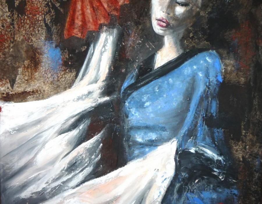 Fruscio del vento  nella danza sensuale  nessun respiro
